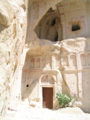 Façade of a rock church