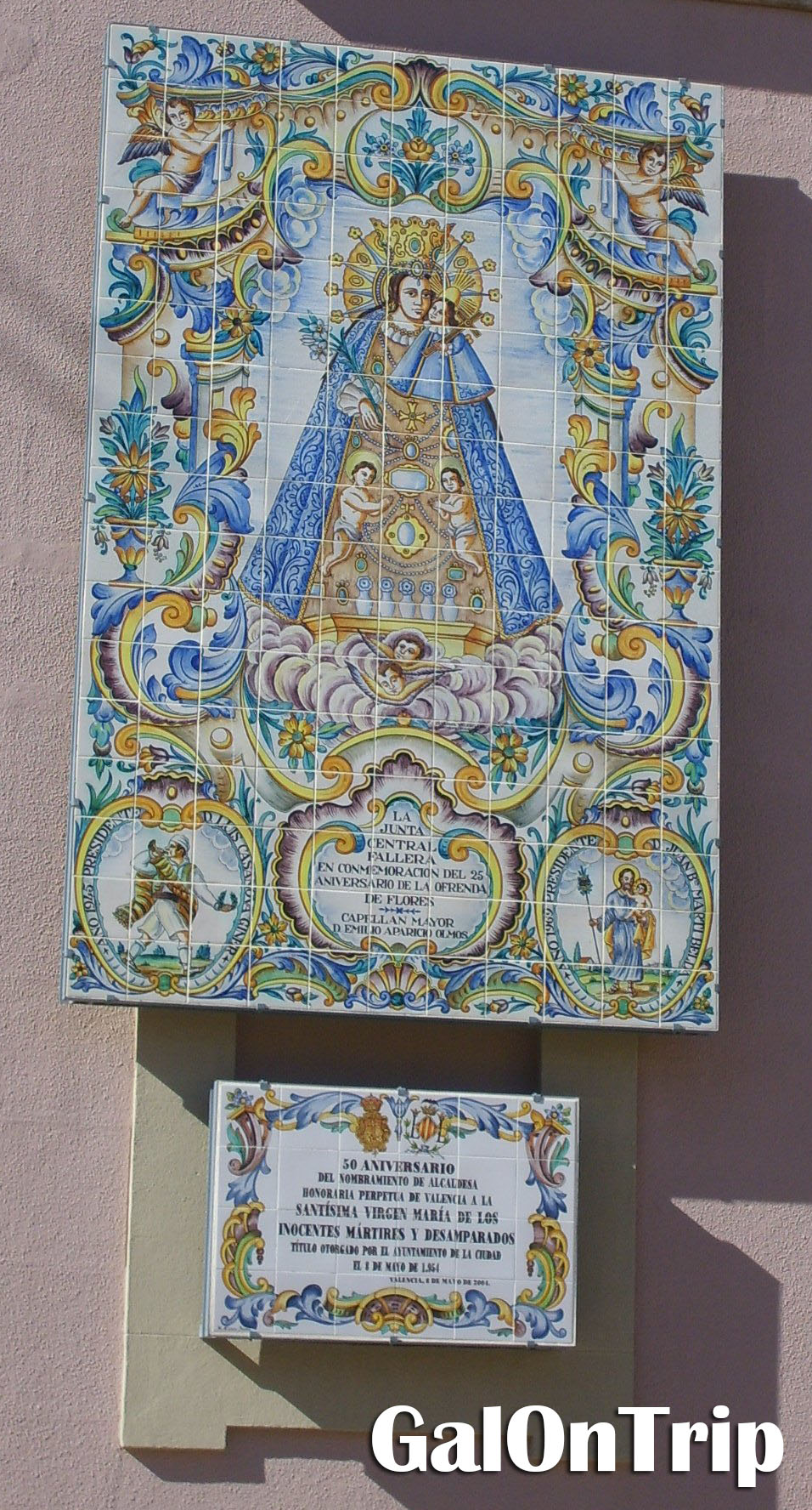 virgin mary tile