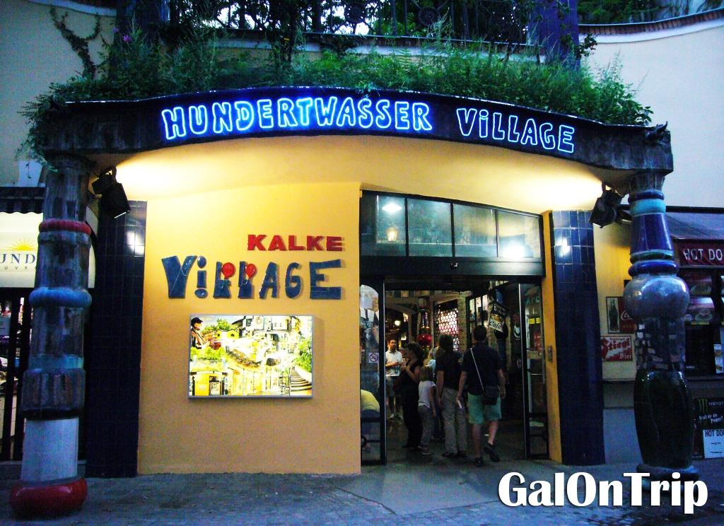 facade of Hundertwasser Village