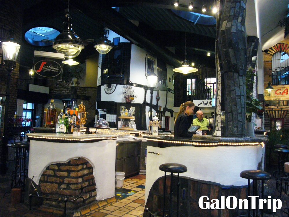 the cafe at hundertwasser village