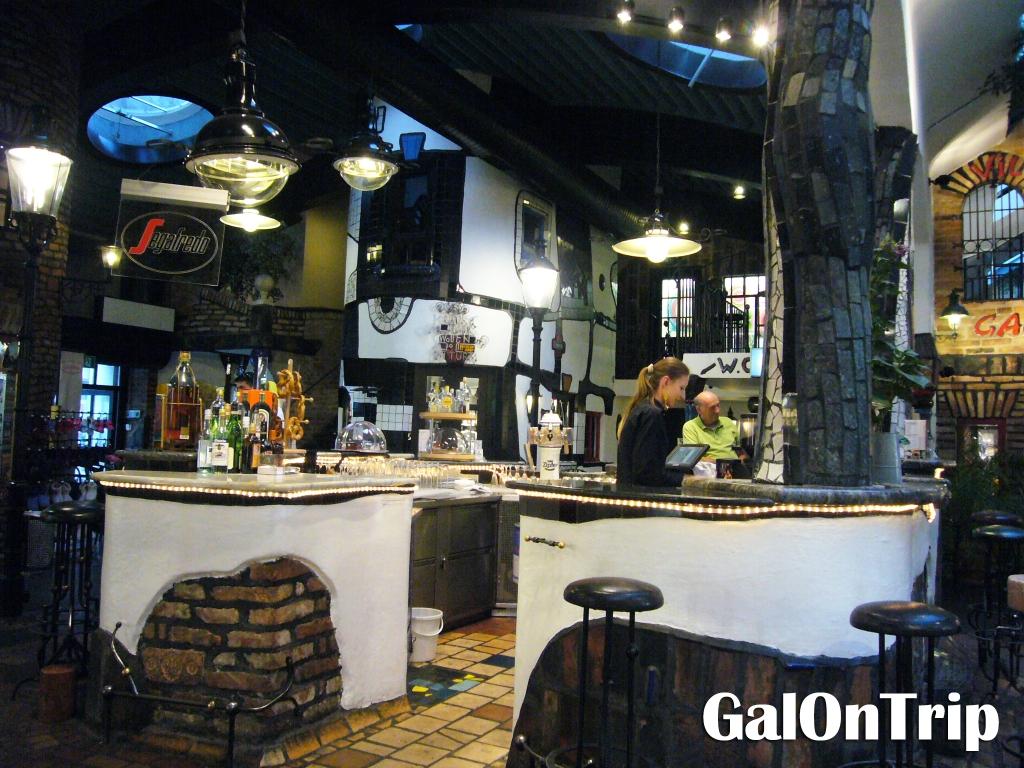 the cafe at hundertwasser village