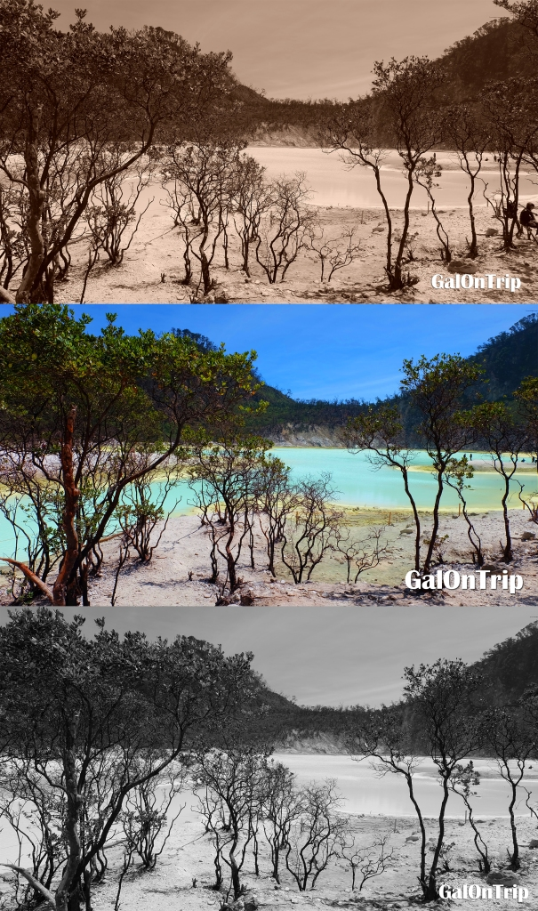 kawah putih different moods