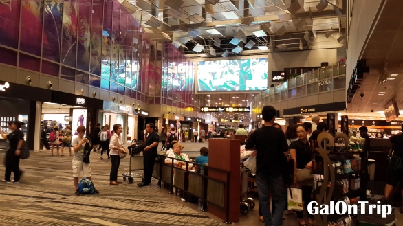 crowds at changi airport