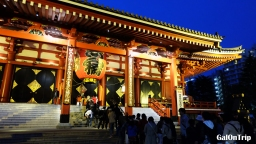 Asakusa in Pictures: Outside Sensoji Temple after 5 PM